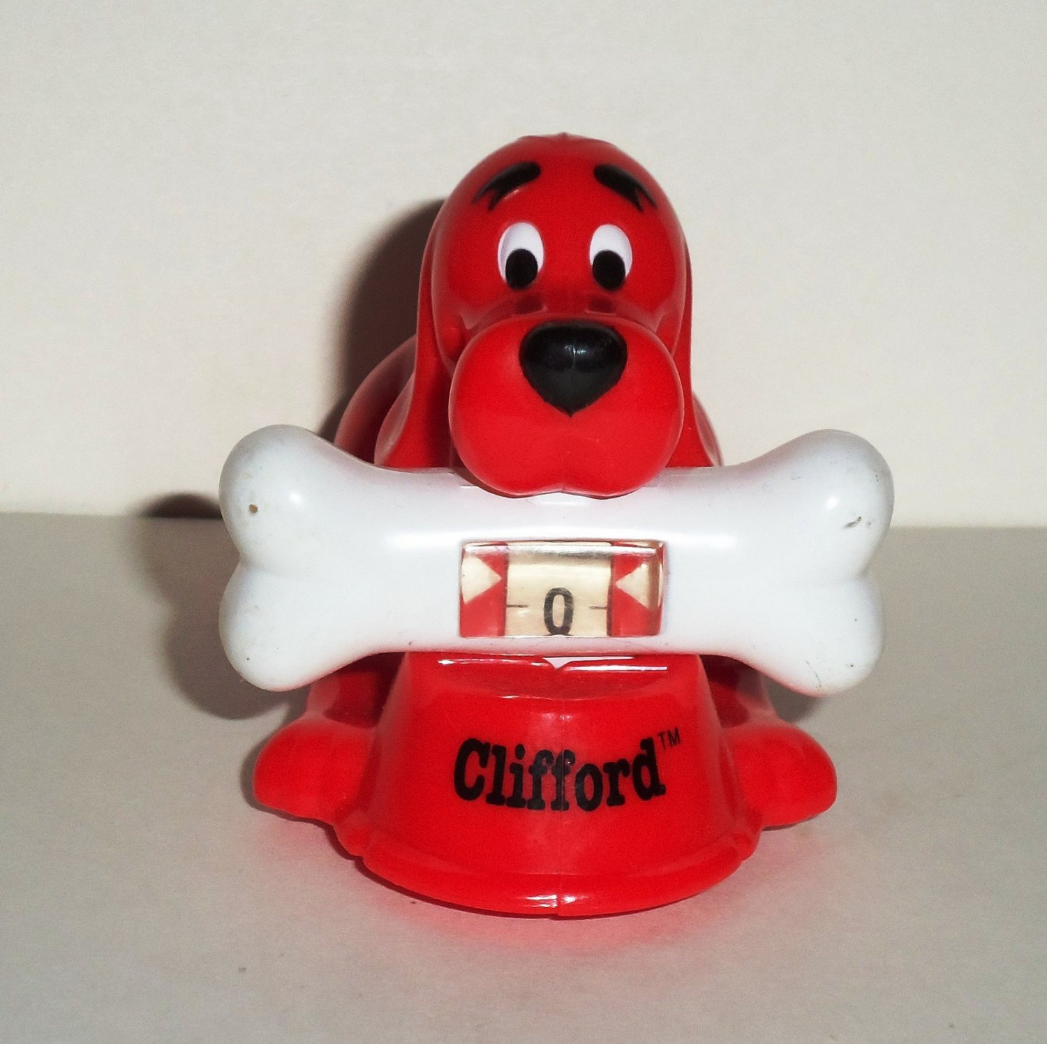 Wendy s 2002 Clifford the Big Red Dog Counter Kids Meal Toy Loose