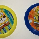 SpongeBob Squarepants Lot of 2 Mini Flying Discs What Kids Want Loose