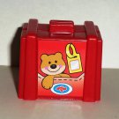 Fisher-Price Little People Red Suitcase for Airport Airplane Mattel Loose Used