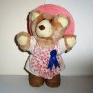 Wendy's 1986 Plush Furskins Bear Hattie Kids Meal Toy Loose Used