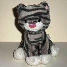 Gund Animal Chatter Meowing Kitty Cat Gray Striped Kitten Plush Loose Used