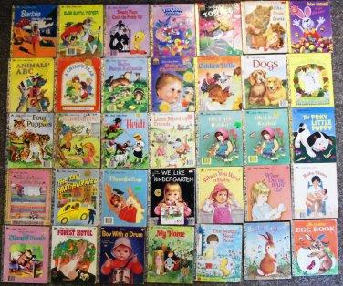 Little Golden Book Lot of 35 Kids' Books Bugs Bunny Barbie Three Bears Heidi More Used