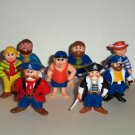 "Lot of 10 Soma 1991 Pirates 2"" PVC Figures Loose Used"