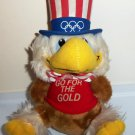 Vintage 1980 Wallace Berrie Applause Sam The Olympic Eagle Plush Toy Loose Used