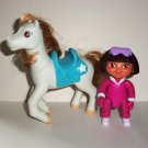 Fisher-Price Dora's Pony Adventures Playset Dora & Frost Figures Only the Explorer Loose Used