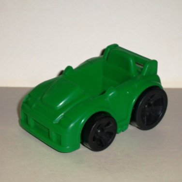 """Green Plastic Toy 3.25"""" Car Loose Used"""