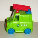 Green Plastic Toy Fire Truck Loose Used