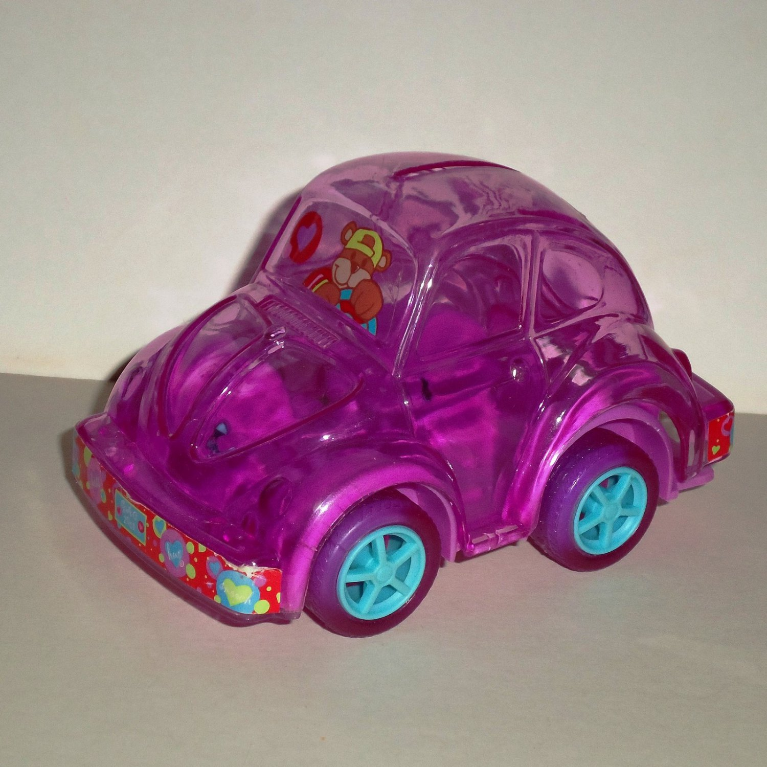 Volkswagen Beetle Pink Candy Holder Bank Toy Car VW Loose Used