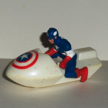 Hardee's Marvel Super-Heores Vehicles Captain America White Jet Ski Meal Toy Loose Used