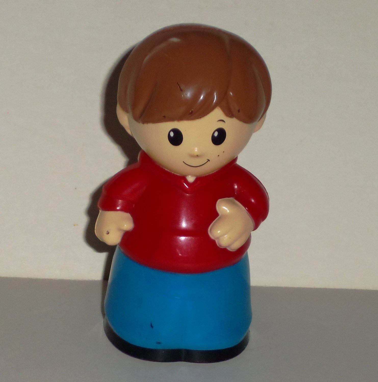 Mega Bloks Boy with Red Shirt Blue Pants Figure Loose Used