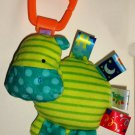 Bright Starts Taggies Friends for Me Take-Along Toys Hippo Loose Used