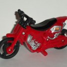 Red Plastic Toy Motorcycle Loose Used