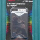 Tzumi 2 in 1 Hard Card/Case For iPhone 4 Cell Phone Case Black NIP
