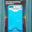 Tzumi 2 in 1 Hard Card/Case For iPhone 4 Cell Phone Case Blue NIP