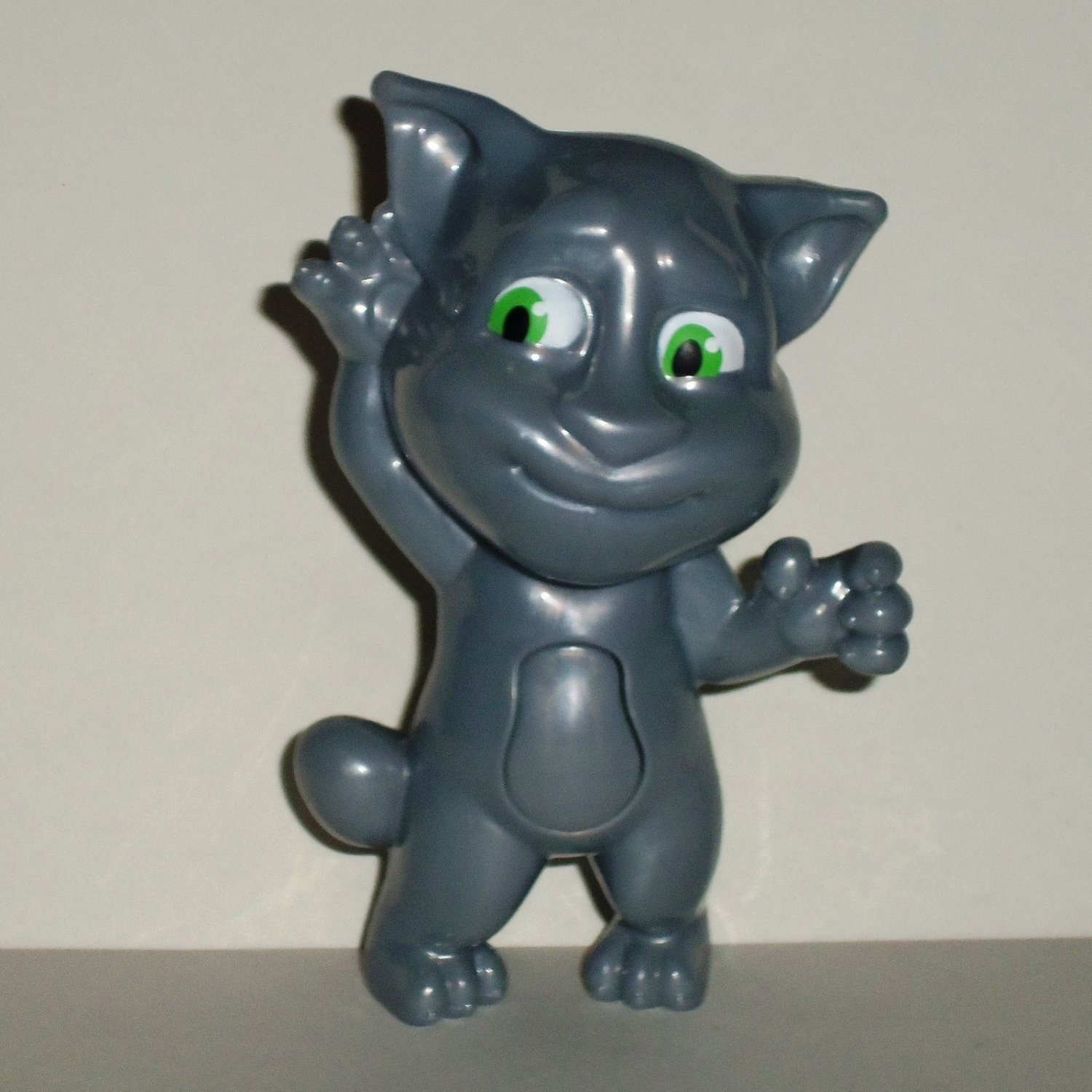McDonald's 2016 Talking Tom Curious Silver Happy Meal Toy Loose Used Does Not Talk