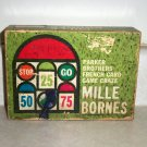Vintage Mille Bornes French Card Game Parker Brothers 1962 Incomplete Used