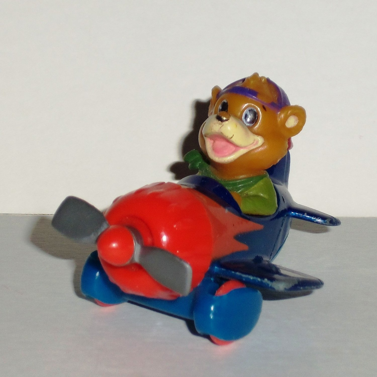McDonald's 1990 Disney's TaleSpin Kit's Racing Plane Happy Meal Toy Loose Used