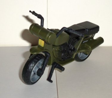 M&C Toy Centre Green & Black Plastic Motorcycle Loose Used