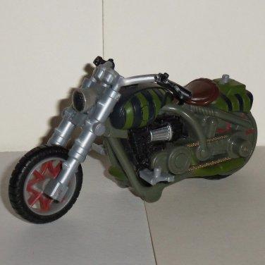 Marvel Hasbro 2006 Green & Black Plastic Motorcycle Loose Used