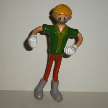 McDonald's 2002 Pinocchio Gepetto Figure Happy Meal Toy Loose Used