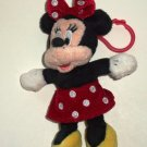Disney Minnie Mouse Plush Doll with Backpack Clip Loose Used