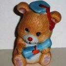 Russ Berrie Graduate Bear Ceramic Figurine Graduation Loose Used