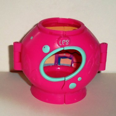 Littlest Pet Shop Round Pink & Green House Accessory Hasbro 2009 Loose Used