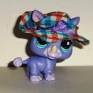 Littlest Pet Shop #1908 Rhino Figure Hasbro Loose Used