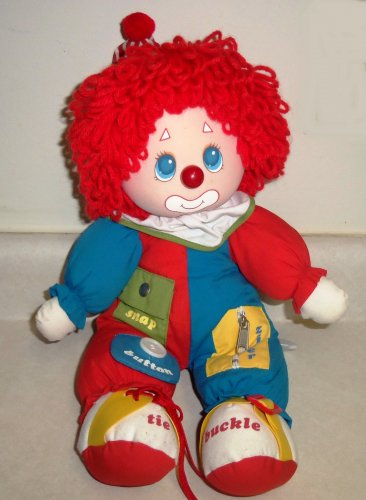 """Amtoy Learning Clown Doll American Greetings 1983 17"""" Loose Used"""