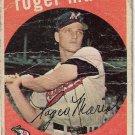 1959 Topps Baseball Card #202 Roger Maris Kansas City Athletics Poor