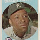 1959 Topps Baseball Card #395 Elston Howard New York Yankees Good