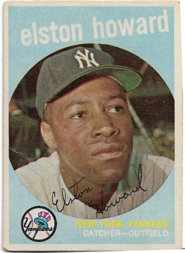 1959 Topps Baseball Card #395 Elston Howard New York Yankees Good