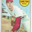 1969 Topps Baseball Card #255 Steve Carlton St. Louis Cardinals Good