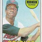 1969 Topps Baseball Card #250 Frank Robinson Baltimore Orioles Very Good