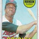 1969 Topps Baseball Card #250 Frank Robinson Baltimore Orioles Poor