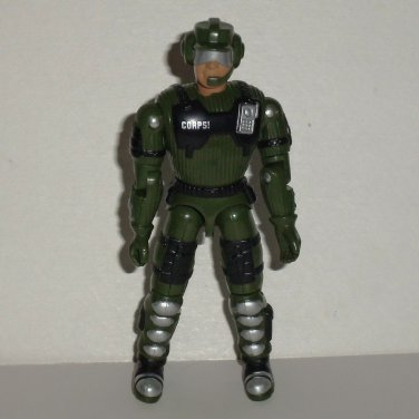 The Corps 1998 Justin Case in Green Black Outfit Action Figure Lanard Toys 1986 Loose Used
