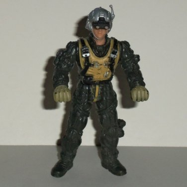 Chap Mei Soldier Force Silver Falcon Pilot w/ Green Buckles Action Figure Loose Used