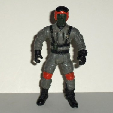 Chap Mei Soldier Force Pilot w/ Mask & Orange Gray Outfit Action Figure Loose Used
