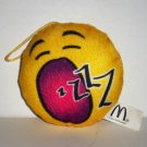 McDonald's 2016 Emoji Plush Yawn Happy Meal Toy Loose Used