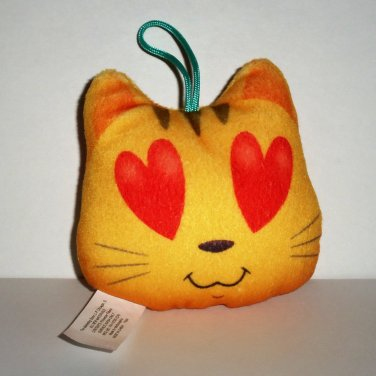 McDonald's 2017 Emoji Movie Plush Cat with Heart Eyes Happy Meal Toy Loose Used