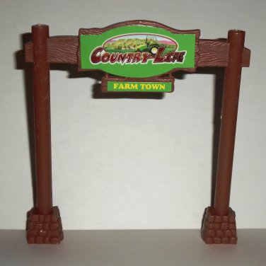 New Ray Toys Country Life Farm Town Plastic Sign Figure Loose Used