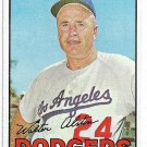 1967 Topps Baseball Card #294 Walt Alston Los Angeles Dodgers EX