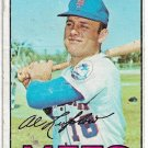1967 Topps Baseball Card #433 Al Luplow  New York Mets Fair