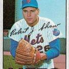 1967 Topps Baseball Card #470 Bob Shaw New York Mets Fair