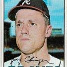 1967 Topps Baseball Card #490 Tony Cloninger Atlanta Braves Fair