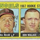 1967 Topps Baseball Card #367 California Angels Rookie Stars Bill Kelso Don Wallace RC Poor