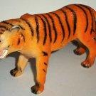 "7"" Long Plastic Tiger Toy Animal Figure Loose Used"