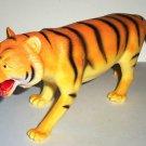 "9"" Long Plastic Tiger Toy Animal Figure Loose Used"