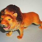 "7.25"" Long Plastic Lion Toy Animal Figure Loose Used"