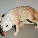 "6"" Long Plastic Arctic Wolf Toy Animal Figure Loose Used"